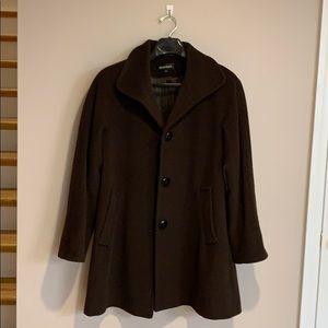 Angora wool 3/4 brown coat